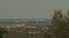Panorama Duluth Harbor Stock Footage