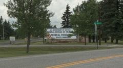 Bureau of Prisons sign, Duluth, Minnesota Stock Footage