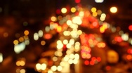 Stock Video Footage of Car Lights - out of focus