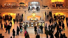 USA, New York City, Manhattan, Grand Central Station, main Terminal - stock footage