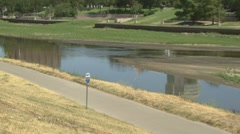 Drought river levels  - stock footage