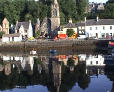 Tobermory waterfront Scotland Stock Footage