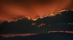 Sunset hdr Stock Footage