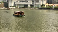 Stock Video Footage of Singapore River Cruise,Boat Quay