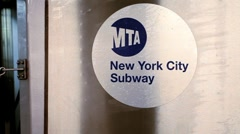USA, New York City, New York City Subway Stock Footage