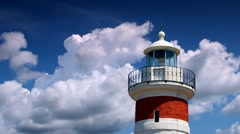 Lighthouse and clouds Stock Footage