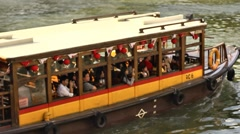 Singapore River Cruise Stock Footage