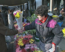 Venice Flower Seller Stock Footage