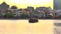 Singapore River, Boat Quay Stock Footage