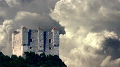Nehaj castle and stormy clouds Stock Footage