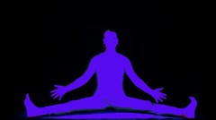 Woman yoga meditation peace exercise spiritual Stock Footage