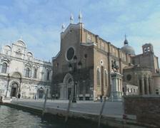 Venice Basilica dei Santi Giovanni e Paolo Stock Footage