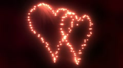 Heart Lights Double Stock Footage