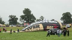 Hot air balloon fiesta 7227 Stock Footage