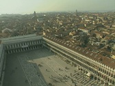 Stock Video Footage of Venice St Marks Square looking down from the Campanile