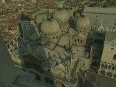 Stock Video Footage of Venice skyline looking down from the Campanile