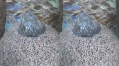 3D Side by Side. Water Fountain - stock footage
