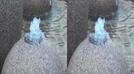 Stock Video Footage of 3D Side by Side. Water Fountain