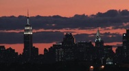 Stock Video Footage of New York City Skyline at Sunset Time-Lapse