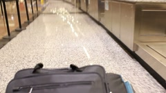 Luggage Check-in Time Lapse POV Stock Footage