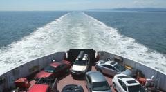 Car ferry. Stock Footage