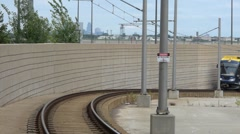Hiawatha Line Train At Airport Stock Footage