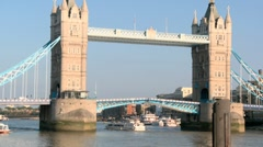 Tower Bridge London Opening 50i Stock Footage