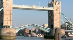 Tower Bridge London Closing 50i Stock Footage