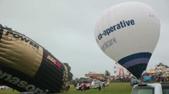 Hot air balloon fiesta 7237 pan co operative Stock Footage