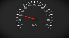 Car speedometer Stock Footage
