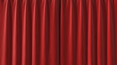 Curtain opening red HD - stock footage