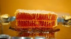 Honeycomb slice Stock Footage