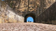 Stock Video Footage of Puerto Rico: El Morro Fortress ramp