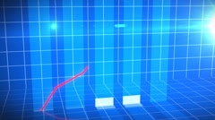 Animation of a growing chart Stock Footage