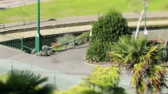 Bournemouth gardens TS 2 close 2 Stock Footage