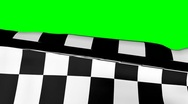 Stock Video Footage of Chequered Flag on Green