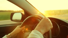 Sunset drive. Stock Footage