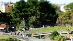 Bournemouth gardens TS 2 wide 2 Stock Footage