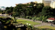 Stock Video Footage of bournemouth gardens TS wide 2