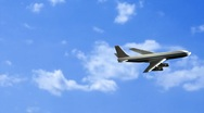 Airplane flying Stock Footage
