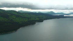 Aerial Kodiak Island Coastline Stock Footage