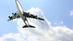 Airplane flying - stock footage