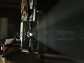 Stock Video Footage of Vintage 8mm Film Projector