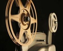 Film Spools on Projector Stock Footage