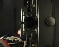 Film Projector Lens Stock Footage