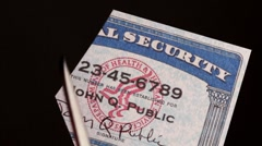 Social Security card Stock Footage