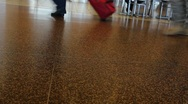 Airport Terminal Legs Feet Stock Footage