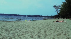 Beach on Lake Champlain Stock Footage