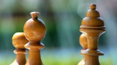 Chess Pieces Water Background Loopable Stock Footage