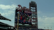 Stock Video Footage of Citizens Bank Park Jumbotron